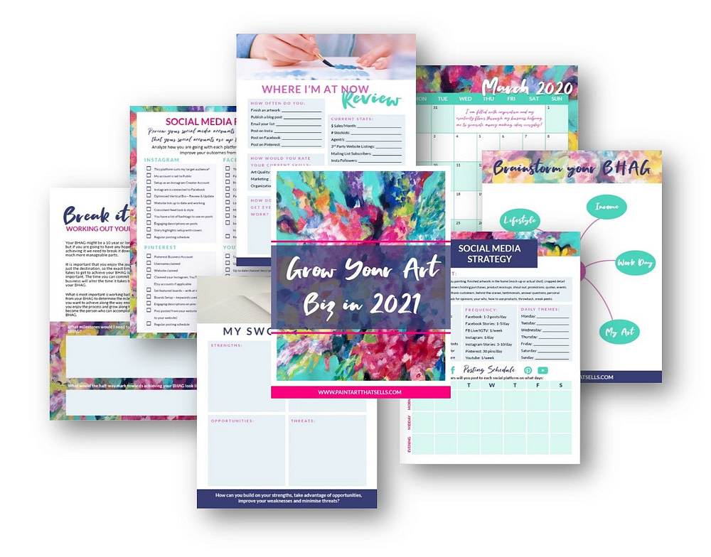 Grow Your Art Biz Planner Pages